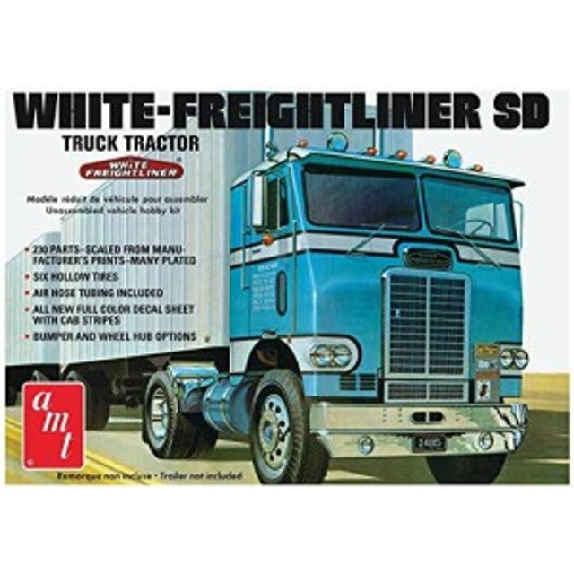 AMT1004 1/25 ホワイト・フレイトライナー シングルドライブ・キャブ【在庫限り】