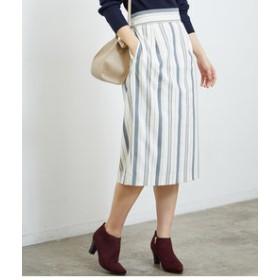 【ROPE' PICNIC:スカート】ストライプタイトスカート