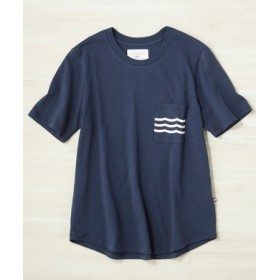 SOL ANGELES ウェーブポケットTシャツ レディース ネイビー