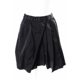 【中古】ヌメロヴェントゥーノ N°21 スカート ミニ フレア プリーツ 36 黒 ブラック /mm0513 レディース