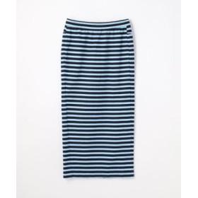 (TOMORROWLAND/トゥモローランド)スーピマコットンジャージー バックスリットタイトスカート/レディース 66ブルー系