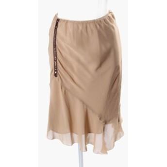 【中古】イネド INED スパンコール 装飾 シフォン スカート aan0513 レディース