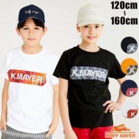 キッズ ジュニア 半袖 Tシャツ ブランドロゴ Tシャツ BOX 120cm 130cm 140cm 150cm 160cm KRIFF MAYER KIDS クリフメイヤー
