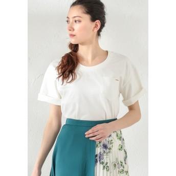 LOVELESS 【LOVELESS】WOMEN はっ水ポケットTシャツ Tシャツ・カットソー,オフホワイト