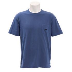 【Super Sports XEBIO & mall店:トップス】バイアスネックピグメントポケットTシャツ SAS1857200-3-NVY