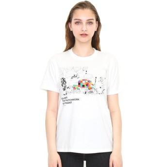 [マルイ] 【ユニセックス】コラボレーションTシャツ/ぞうのエルマーアンドラインアート(ぞうのエルマー)/グラニフ(graniph)