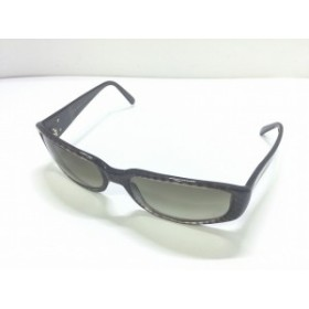 ブルガリ BVLGARI サングラス レディース 美品 ブルガリブルガリ 825 黒×グレー プラスチック×金属素材【中古】