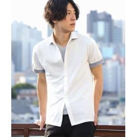 (MK homme/エムケーオム)シャツ(ダイヤカノコジャガード)/メンズ ホワイト