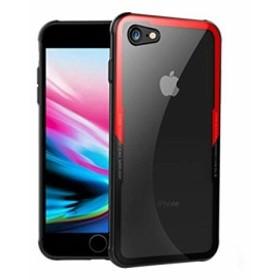 iPhone7 ケース iPhone8 ガラス 耐衝撃 アーマー バンパー アイフォン 4.7 薄型 軽量 QI 対応 スマホケース 強化 Glass TPU グリップ