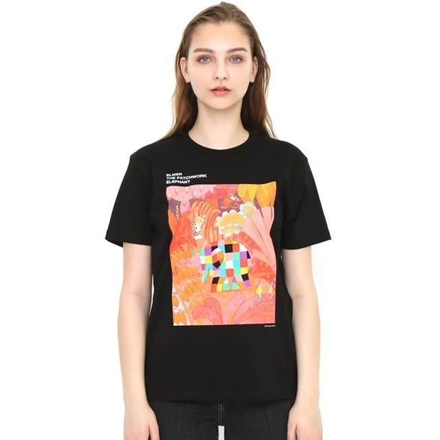 [マルイ] 【ユニセックス】コラボレーションTシャツ/ぞうのエルマーインザウッズ(ぞうのエルマー)/グラニフ(graniph)
