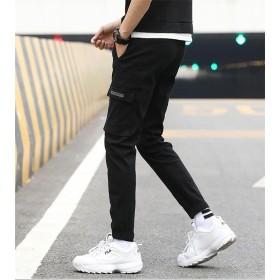 [55555SHOP] ハンサムボーイ、春夏季節に大活躍 韓国 メンズファッション 個性的なパンツ カジュアルパンツ 9ズボン ロングパンツ 韓国風 人気