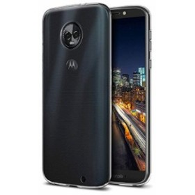 モトローラ SIM フリー スマートフォン Moto G6 Plus (5.93インチ) カバー TPU グリップ スマホケース 薄型 軽量 透明 シンプル Clear