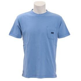 【Super Sports XEBIO & mall店:トップス】バイアスネックピグメントポケットTシャツ SAS1857200-2-BLU