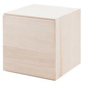収納ボックス ユニットボックス 扉付 桐材 生地仕上げ 幅39cm