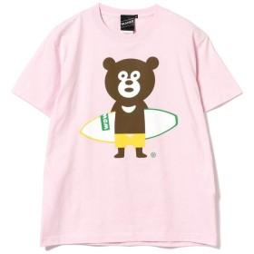 ビームス メン BEAMS T / Surfboard Bear Tee メンズ PINK L 【BEAMS MEN】