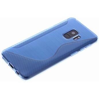 Galaxy S9 ケース TPU 耐衝撃 docomo SC-02K au SCV38 ギャラクシー スマホケース 青 ブルー【送料無料】ポイント消化