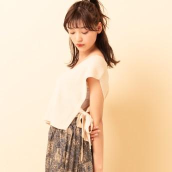 ベスト・ジレ - RETRO GIRL ○RETRO GIRL○ サイドリボンVネックベスト