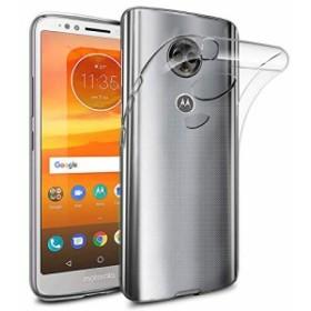 モトローラ SIM フリー スマートフォン Moto E5 (5.7インチ) カバー TPU グリップ スマホケース 薄型 軽量 透明 シンプル Clear クリア