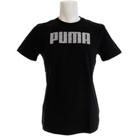 【Super Sports XEBIO & mall店:トップス】【ゼビオグループ限定】 PUMA ロゴ 半袖Tシャツ 845503 01 BLK