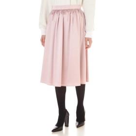 NATURAL BEAUTY トリアセエンボススカート ひざ丈スカート,ピンク3
