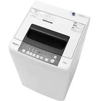 全自動洗濯機 [ステンレス槽] ホワイト【洗濯5.5kg】 HW-T55C