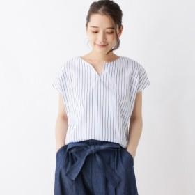 [マルイ]【セール】【防シワ】マルチストライプシャツ/キューティーブロンド(Cutie Blonde)