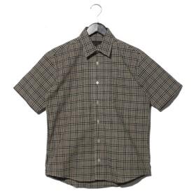 74%OFF MODA LINEGA (モーダリネガ) チェツク半袖レギュラーシャツ グリーン