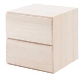 収納ボックス ユニットボックス 引出し 2杯 桐材 生地仕上げ 幅39cm