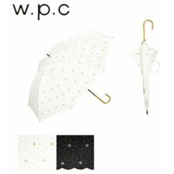 傘 レディース 長傘 50cm 雨傘 日傘 晴雨兼用 w.p.c ワールドパーティー 遮光 マーガレットレース ブラック ホワイ