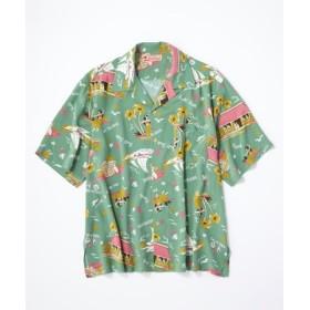 Kaluluwa アロハシャツ メンズ グリーン