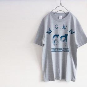 ビンテージタイポ「69」 シンプルTシャツ(グレー)