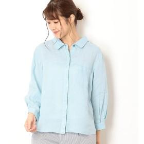 [マルイ]【セール】リネンボイル製品染めシャツ /ミキシングブルー(Mixing blue)