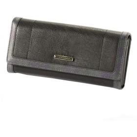 efae17429db6 クインバッグ レディース 在庫限り 財布 クロコダイル チェックコンビ パスケース付き長札入れ