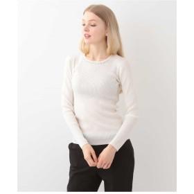 TARA JARMON デザインリブカットソー IMPORTED Tシャツ・カットソー,ホワイト