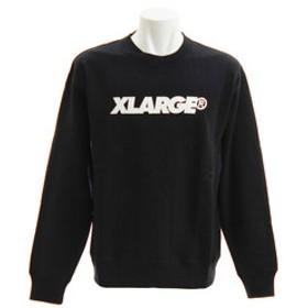 SALE開催中【Super Sports XEBIO & mall店:トップス】STANDARD LOGO クルーネックスウェット 1181204-BLACK