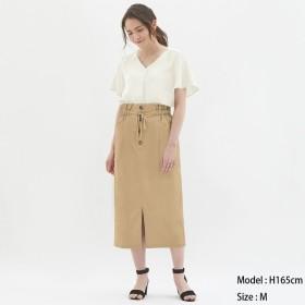 (GU)ペーパーバックミディスカート BEIGE XL