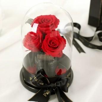 送料無料ソープフラワー ガラスドーム バラ 枯れない花 プレゼント ギフト クリスマス 発表会 送別 お花ブーケ 誕生祝い 贈り物 母の