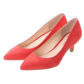 アンタイトル シューズ UNTITLED shoes ポインテッドプレーンパンプス UT4100 (レッドスエード)