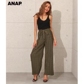 【セール開催中】ANAP(アナップ)プリーツドット柄フレアパンツ