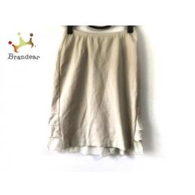 レジィーナロマンティコ スカート サイズ36 S レディース ベージュ×アイボリー フリル 新着 20190525