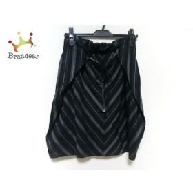 ニジュウサンク 23区 スカート サイズ36 S レディース 美品 黒×グレー×ダークグレー   スペシャル特価 20190904