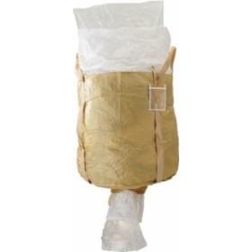 吉野 コンテナバッグ丸型 内袋付 排出口付【YS-CB-1000C-PE】(コンテナ・パレット・コンテナバッグ)