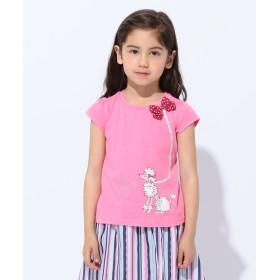 【オンワード】 any FAM KIDS(エニィファム キッズ) 【KIDS】プードル プリント Tシャツ ピンク 120 キッズ 【送料無料】
