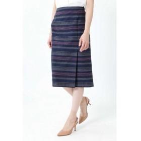 NATURAL BEAUTY / ナチュラルビューティー ◆ステッチジャカードタイトスカート