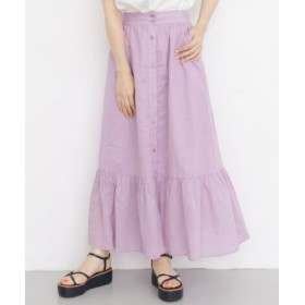 KBF(ケービーエフ) スカート スカート フロントボタンギャザー切替スカート