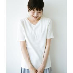 (haco!/ハコ)haco!女の子バンザイプロジェクト【キラキラ期】 ここぞ!とばかりに華奢見せ女っぽTシャツ/レディース ホワイト