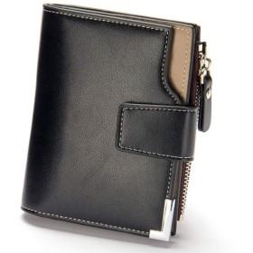 a226d3b56d2f Jeemiter 財布 二つ折り メンズ 本革 ファスナー コインケース 大容量 小銭入れ カード入れ