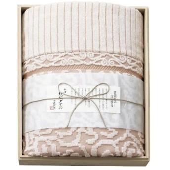 今治謹製 紋織タオル タオルケット(木箱入) ピンク IM8038