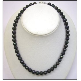 黒真珠 ネックレス 9mmアップ 豪華大きめ