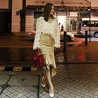 レディース ファッション スカート セットアップ フィッシュテールスカート タッセルニット シンプル フリル おしゃれ 大きめ 春 夏 秋